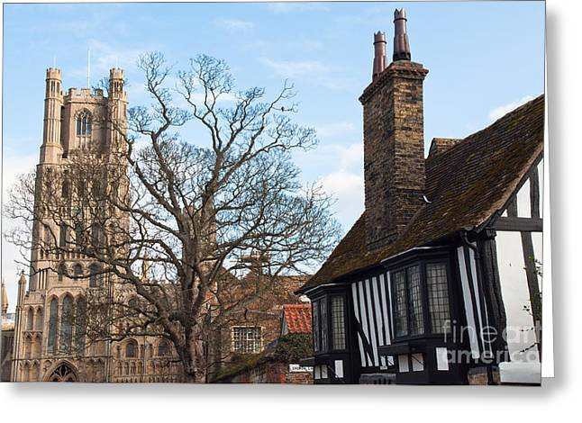 Greeting Card featuring the photograph Old English House by Andrew  Michael
