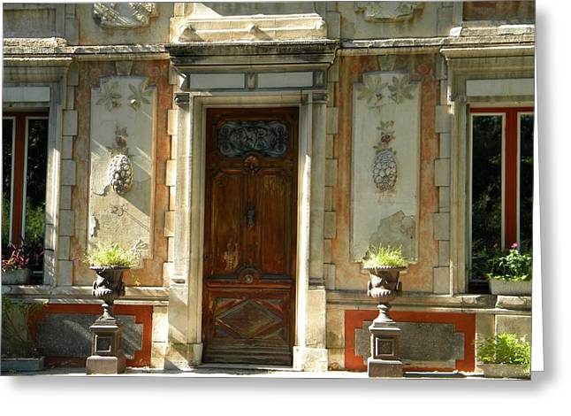 Old Entrance In Provence Greeting Card