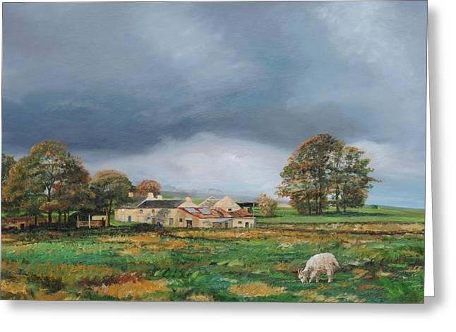 Old Farm - Monyash - Derbyshire Greeting Card by Trevor Neal