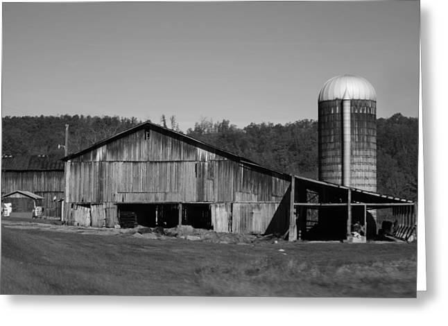 Old Farm Barn In Kentucky Greeting Card