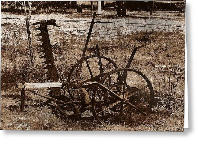 Greeting Card featuring the photograph Old Farm Equipment by Blair Stuart