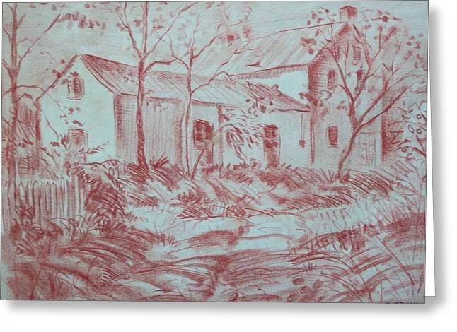 Windy Pastels Greeting Cards - Old Farm House Greeting Card by Bill Joseph  Markowski