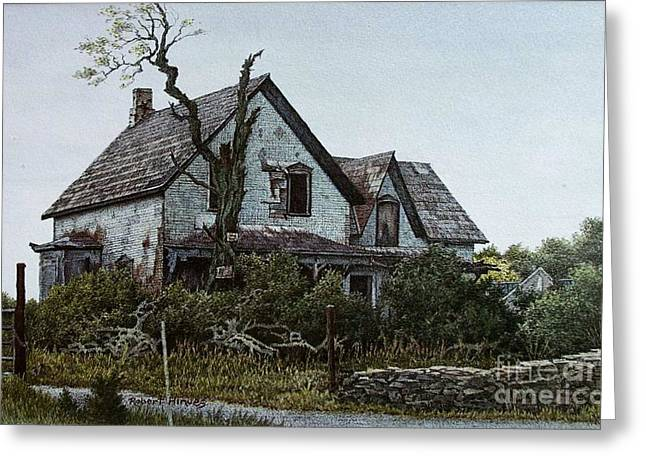 Old Farmhouse Picton Greeting Card by Robert Hinves