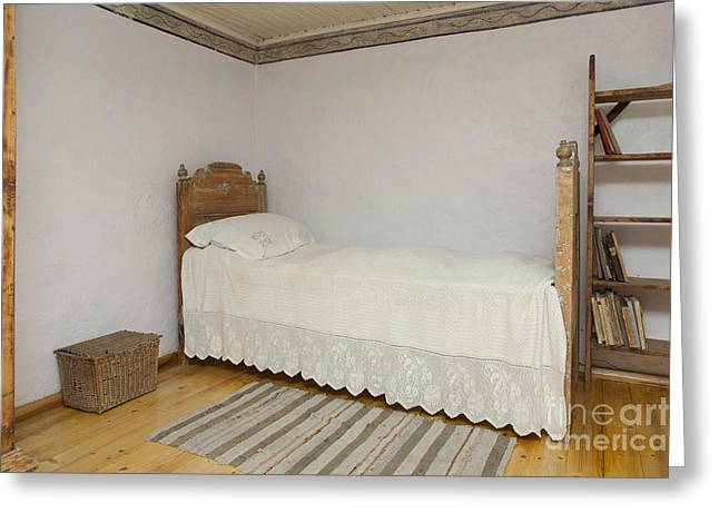Old Fashioned Bedroom Greeting Card By Jaak Nilson