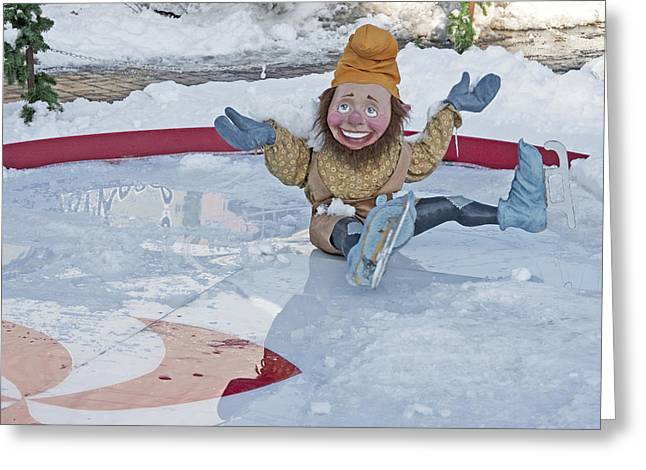 Old-fashioned Christmas 8 - Gardener Village Greeting Card by Steve Ohlsen