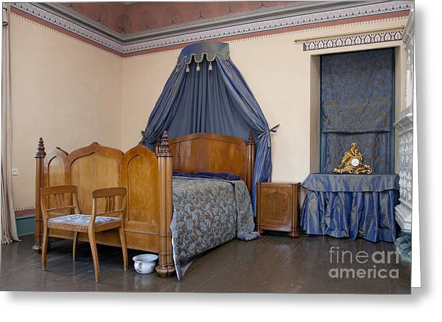 Old-fashioned Manor Bedroom Greeting Card