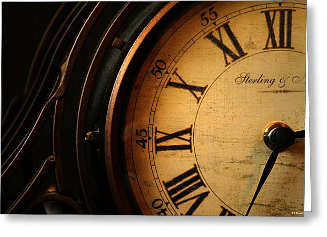 Old Fashioned Mantle Clock Greeting Card
