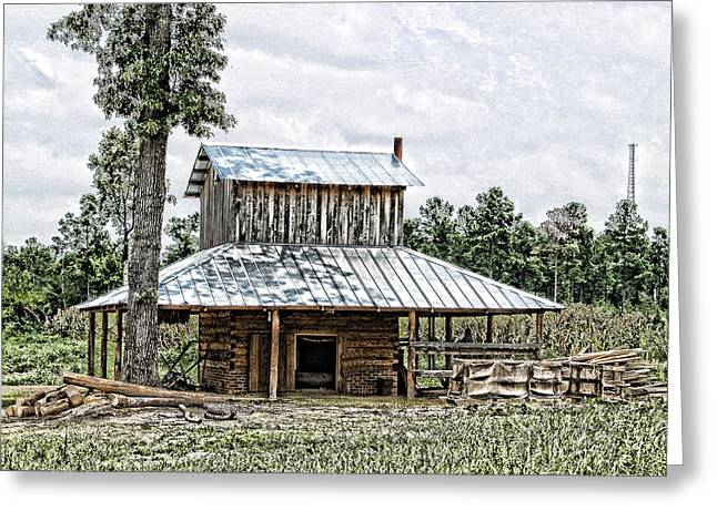 Old Fashioned Tobacco Barn Greeting Card by Dwayne  Graham