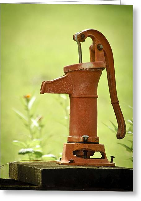 Greeting Card featuring the photograph Old Fashioned Water Pump by Carolyn Marshall