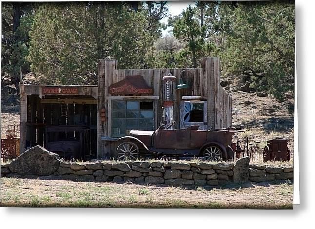 Old Filling Station Greeting Card by Athena Mckinzie