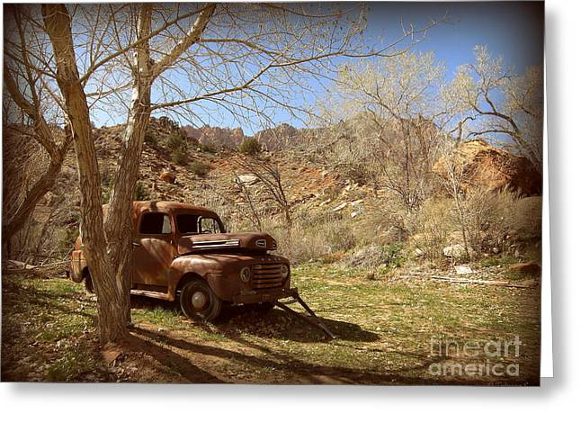 Greeting Card featuring the photograph Old Ford by Tanya  Searcy