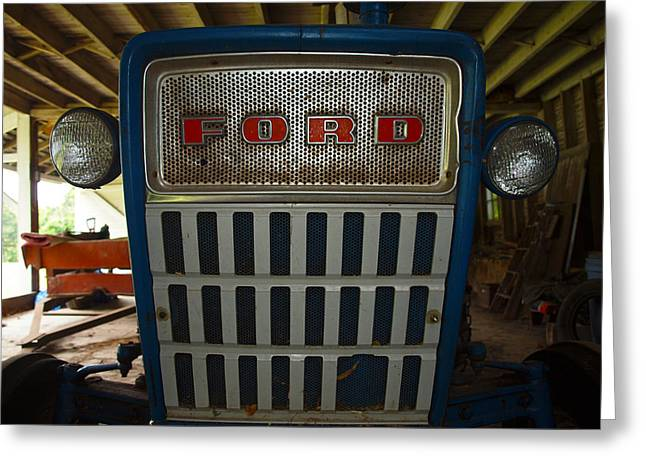 Old Ford Tractor Greeting Card by Robert Margetts