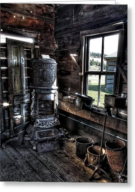 Old Ghost Town Stove - Molson Washington Greeting Card