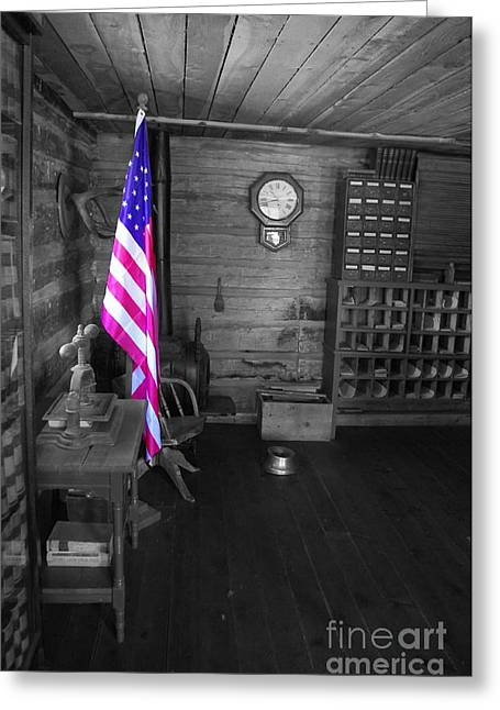 Greeting Card featuring the photograph Old Glory by Deniece Platt