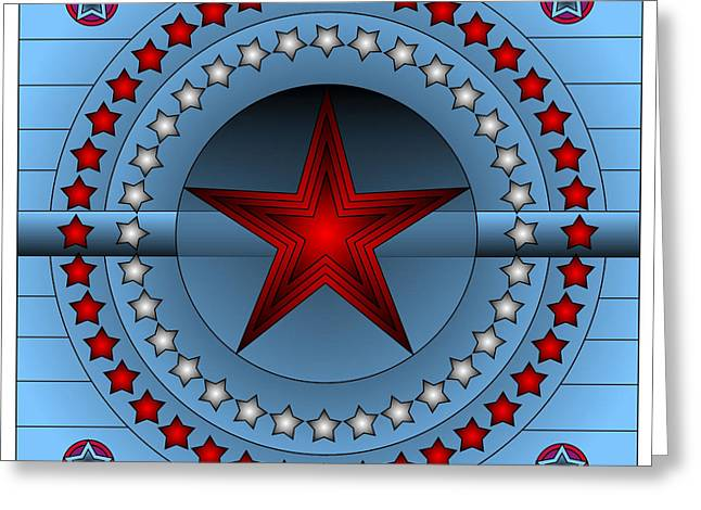 Old Glory Star Greeting Card by Mario Carini