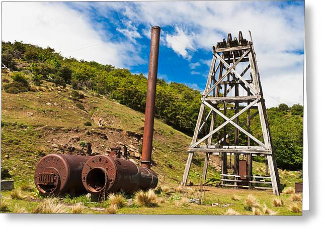 Old Gold Mine Greeting Card by Graeme Knox