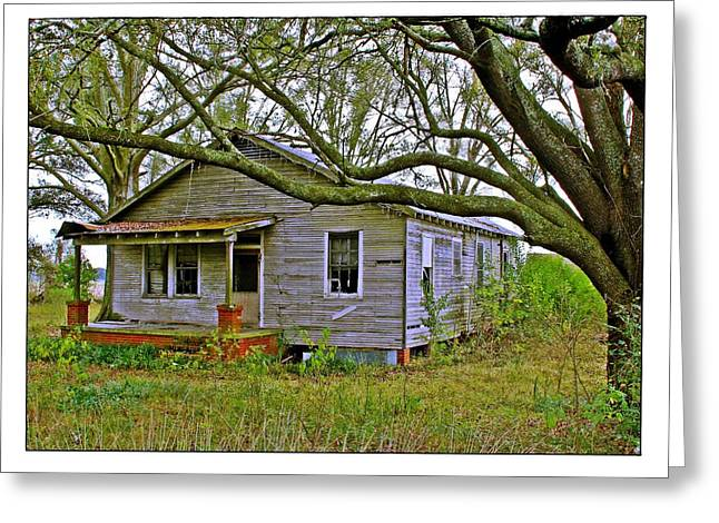 Old Gray House Greeting Card by Judi Bagwell