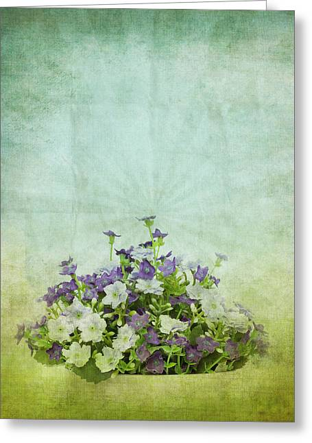 Old Grunge Paper Flowers Pattern Greeting Card by Setsiri Silapasuwanchai