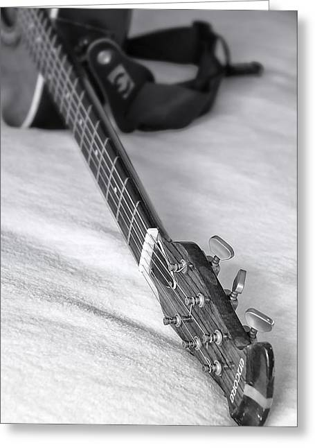 Old Guitar Greeting Card by Svetlana Sewell