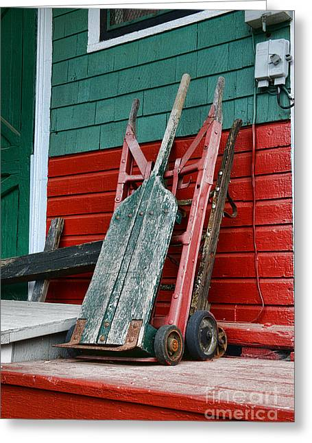 Old Hand Trucks Greeting Card by Paul Ward