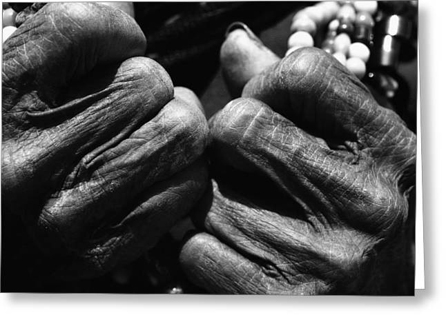Old Hands 2 Greeting Card by Skip Nall