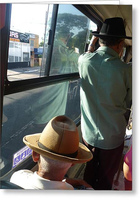 Greeting Card featuring the photograph Old Hat by Beto Machado