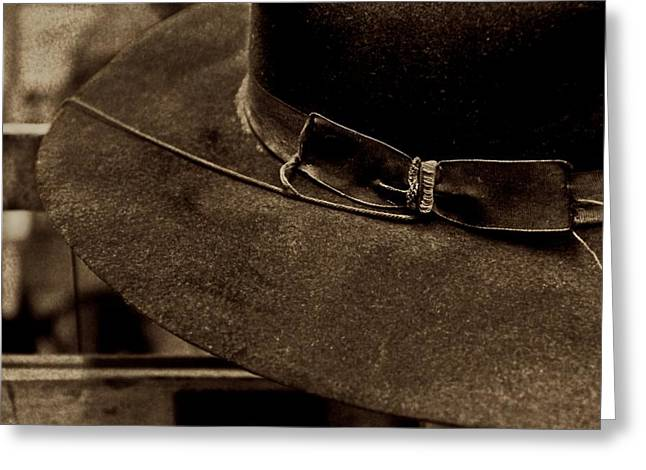 Old Hat Greeting Card by Odd Jeppesen