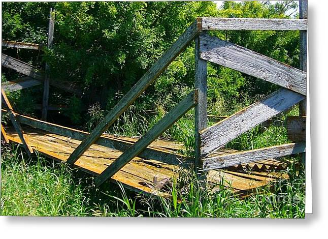 Greeting Card featuring the photograph Old Hayrack by Jim Sauchyn