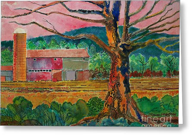 Old Herschel Farm Greeting Card by Donald McGibbon