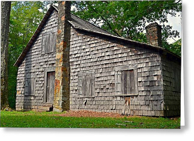 Old Home In Forest Greeting Card by Susan Leggett