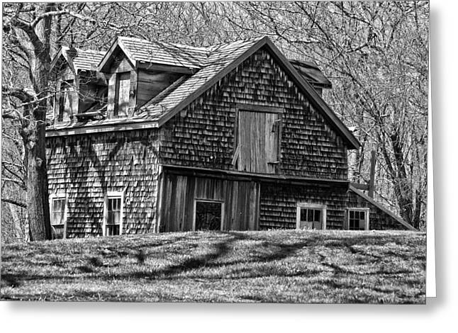 Greeting Card featuring the photograph Old House In Adamsville Ri by Nancy De Flon
