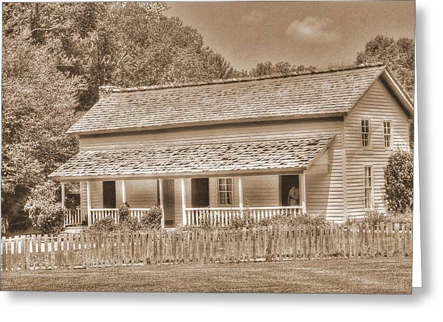 Old House In The Cove Greeting Card by Barry Jones