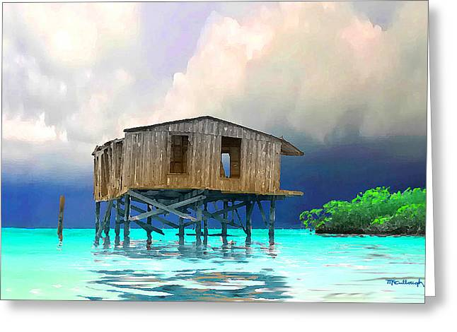 Old House Near The Storm Filtered Greeting Card
