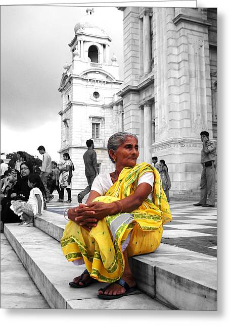 Old Indian Woman Greeting Card