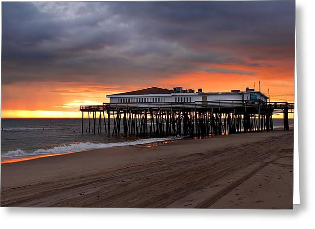 Old Jennettes Pier Greeting Card