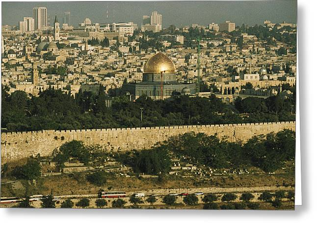 Old Jerusalem, The Dome Of The Rock Greeting Card