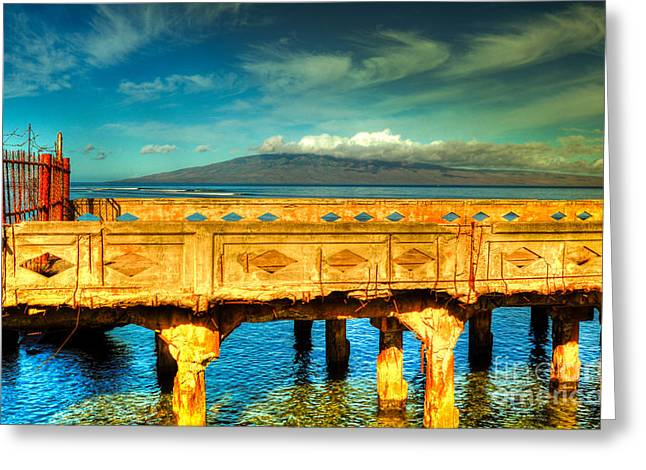 Old Lahaina Pier Greeting Card