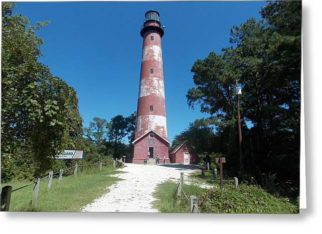 Old Lighthouse Greeting Card by Angelika MacDonald