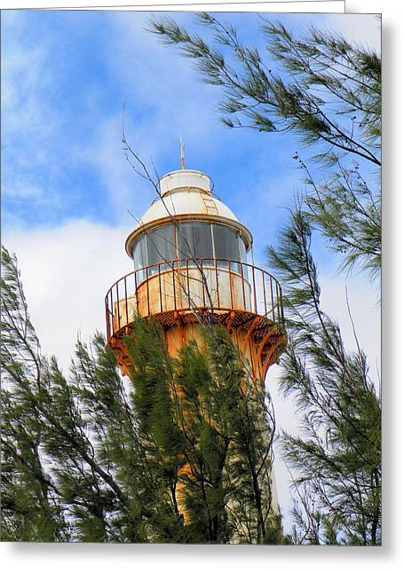 Old Lighthouse Grand Turk Island Greeting Card by Rosalie Scanlon