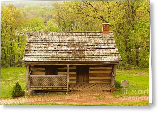Old Log Cabin Greeting Card