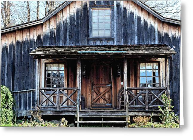 Old Log House2 Greeting Card by Sandi OReilly