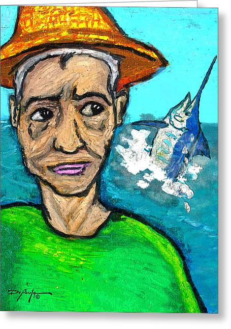 Old Man And The Sea Greeting Card by William Depaula