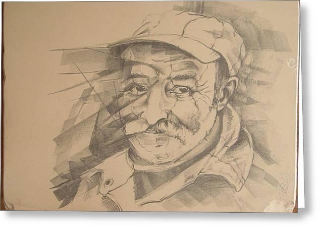 Old Man Greeting Card by Curt Sandu Viorel