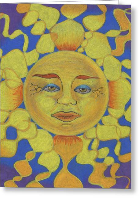 Old Man Sun Greeting Card