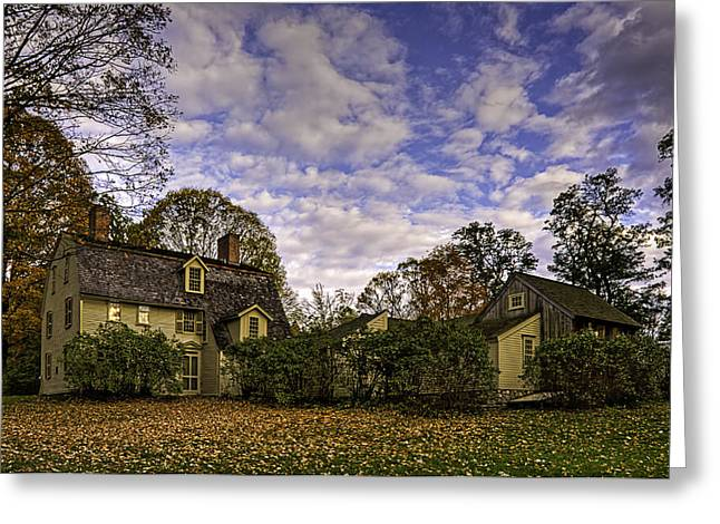 Old Manse In Autumn Glory Greeting Card