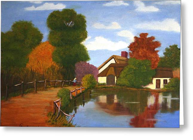 Constable Greeting Cards - Old Master 1 Greeting Card by Arno Clabaugh