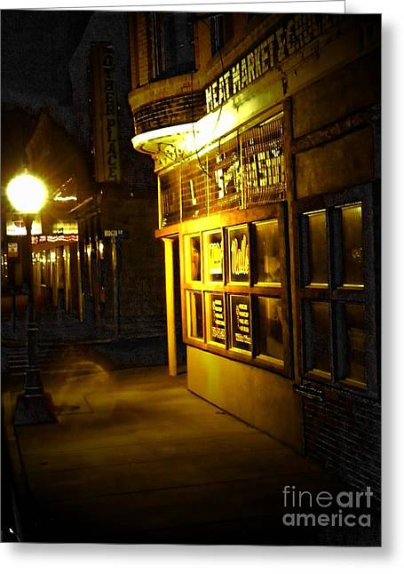 Old Meat Market Greeting Card by Michelle Frizzell-Thompson