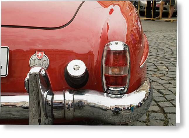 Old Mercede-benz Details Greeting Card by Odon Czintos