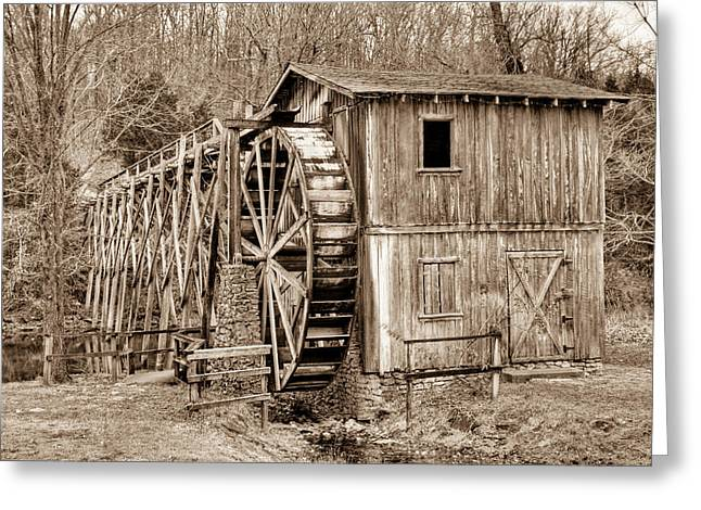 Old Mill In Sepia Greeting Card by Douglas Barnett