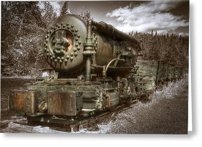 Old Mine Train Banff Greeting Card